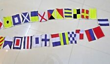 Nautical Signal Flag - String of 26 - A to Z - 11 Feet - COTTON -Boat / Marine