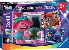 Ravensburger TROLLS 2 WORLD TOUR 3 X 49PC JIGSAW PUZZLES Toys Games BNIP
