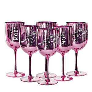 Moet & Chandon Pink Ice Imperial Acrylic Champagne Glasses - Set of 6