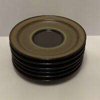 "Lot of 6 Noritake Primastone Genuine Stoneware Bread Plate Saucer Japan 6"" 8305"