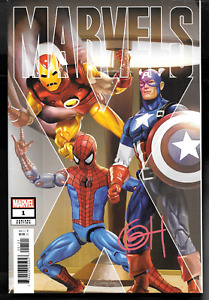 Marvels #1 Greg Horn 1:50 RETAILER INCENTIVE VARIANT signed Greg Horn NM