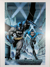 "BATMAN & NIGHTWING ART PRINT by Jim Lee ~ 12"" x 16"" ~ Great Condition"