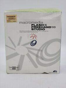 Macromedia Flash 5 Freehand 10 Studio for Mac (New Factory Sealed Box)