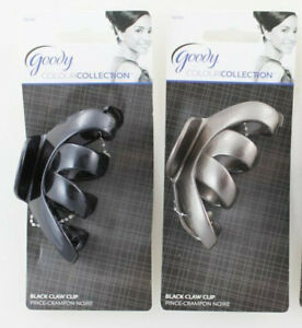 Goody Black Color Collection Silver Gray Spider Octopus Claw Clip Thick Hair Jaw