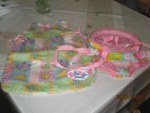 Baby Born Bauchtrage und Schlafsack gut erhalten