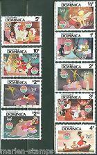 Dominica Disney Christmas 1980 Set Scott #679/87 Mint Never Hinged Complete