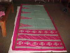 NEW TURQUOISE GREEN Rasberry PINK DAZZLING Sari Fabric DRAPE Panel CURTAIN Saree