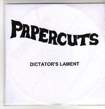(AS200) Papercuts, Dictator's Lament - DJ CD