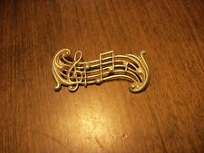 Vintage Sterling Silver Music Note Brooch or Pin