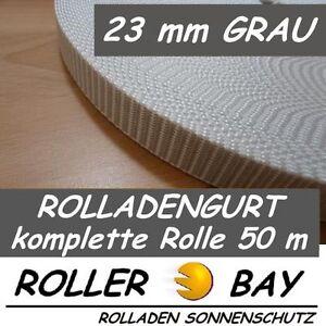 50 m Maxi Rolladen Gurt 23 mm grau Rolladengurt Gurtband Rollladenband