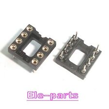 10 DIP8 Round 8 PIN DIL IC Socket (gold plated inner)