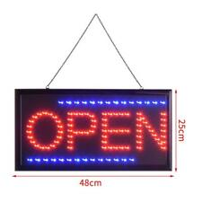 Led Open Sign Club Window Display Light Lamp Super Bright illuminated Flashing