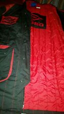 MENS UMBRO LONG NYLON JACKET  SZ L