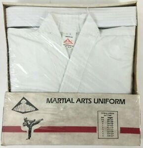 CENTURY MARTIAL ARTS Uniform Size 3 Adult SMALL White Made In USA Vintage KARATE