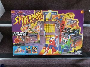 NEW RARE VINTAGE 1994 SPIDERMAN DAILY BUGLE PLAYSET TOY BIZ MARVEL 47400