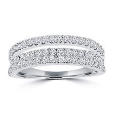 0.90 ct Ladies Round Cut Diamond Anniversary Wedding Band Ring in White Gold