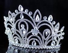 ABt992 Shiny Clear Autrian Cystal Rhinestone Tiara Crown Wedding Bridal Prom