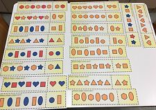 Patterns - Which Comes Next? - 18 Laminated Dry Erase Activity Cards