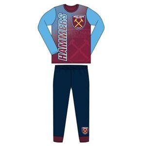 West Ham Boys Pyjamas Kids Nightwear Long Sleeve PJs 4 to 12 Years