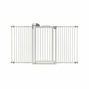 """Richell Tall and Wide One-Touch Pressure Mounted Pet Gate White 32.1"""" - 62.8"""" x"""
