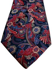 LORENZO CANA Tie Red & Blue Flowers