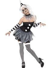 Sinister Pierrot Costume, Halloween Cirque Sinister Fancy Dress, UK Size 16-18