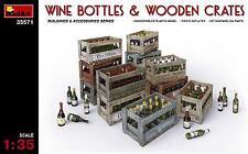 Miniart 1/35 Wine Bottles & Wooden Crates # 35571