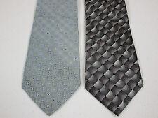 Silk Tie Lot Of 2 Burma Bibas And George New 4 x 57 Inch