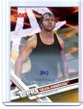 WWE Dean Ambrose 2017 Topps Then Now Forever Gold Autograph Card SN 3 of 10