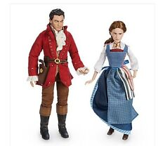 Disney Store Beauty and the Beast Live Action Film Belle & Gaston Doll NIB