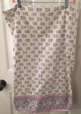 Pottery Barn Teen Purple Floral Standard Pillowcase/Sham Organic Cotton EUC