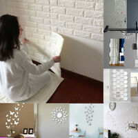 3D Brick/Mirror Vinyl Home Room Decor Wall Decal Stickers Bedroom Removable DIY
