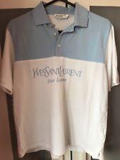 Vintage YSL Yves Saint Laurent Polo Shirt Mens Short Sleeve Top Size M Medium