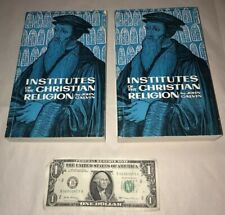 1966 The Institutes of the Christian Religion by John Calvin  2 Volume Paperback