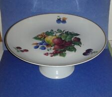 NAAMAN Cake Stand Pedestal Plate Fruit Berry Art ~ Made in Israel