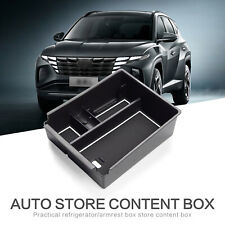 Car Central Armrest Storage Box for Tucson NX4 2021 2022 Console Container WHITE