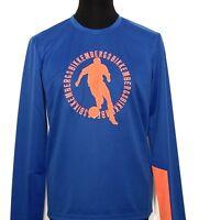 BIKKEMBERGS Trikot Shirt Sweater blau blue Fussball L XXL Neu Etikett NP 189€!