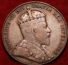 1910 Canada 50 Cents Silver Foreign Cent
