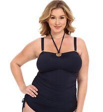 NWT Michael Kors Plus Size Logo Hardware Swimsuit Tankini Color: New Navy Sz 20W