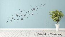 Wandtattoo 44 glänzende graue Sterne  Aufkleber Sticker Dekoration Himmel #7795