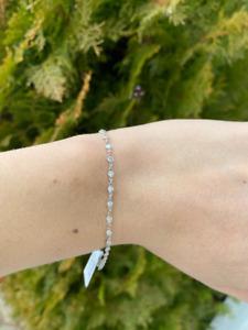 "Platinum Diamond by the Yard Bracelet 2 ct., G-H SI1 Clarity, 6.25"", 3.6mm bezel"