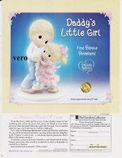 magazine ad 2007 HAMILTON Daddy's Little Girl Precious Moments print page advert