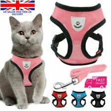 More details for cat walking jacket harness and leads escape proof pet dog adjustable mesh vest