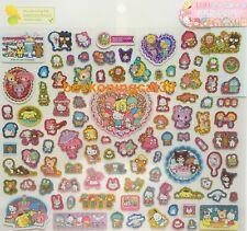 Sanrio Original Glitter Sticker 100 Kitty My Melody Kuromi Keropppi MADE JAPAN