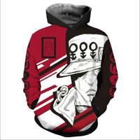JoJo's Bizarre Adventure Kujo Jotaro Hoodie 3D Print Sweatshirt Costume Jacket