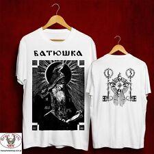 BATUSHKA LITOURGIYA SHEMA MONK BLACK OFFICIAL WHITE T-SHIRT STRICT LIMITED Ltd