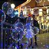 """18"""" DEL Light Up BALLONS Transparent Mariage Anniversaire Noël Lumières De Fête"""