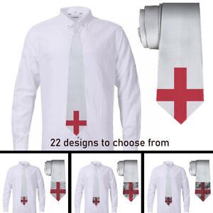 England Flag design Mens Neckties Ties Printed Geometric With Box New 22 Designs