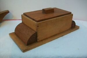 Antique Art Deco wooden Box Kitchen  cheese butter storage French Vintage