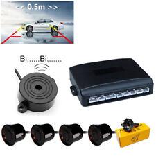 Auto Einparkhilfe 4 Sensoren Parkhilfe Parksensoren KFZ Rückfahrwarner Schwarz